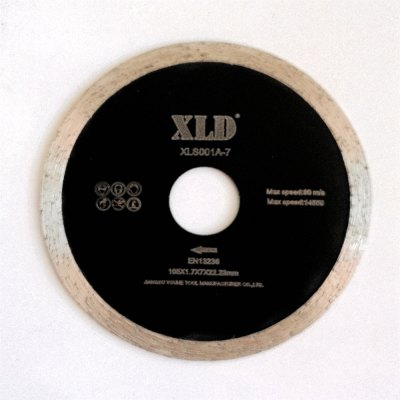 Xld Cold-Pressed Continuous Rim Saw Blade Grade A 105 x 1.7 x 7 x 22.23