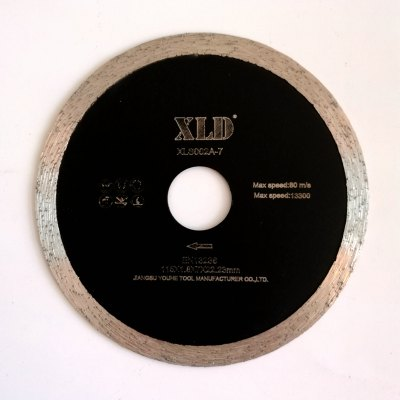 Xld Cold-Pressed Continuous Rim Saw Blade Grade A 115 x 1.8 x 7 x 22.23