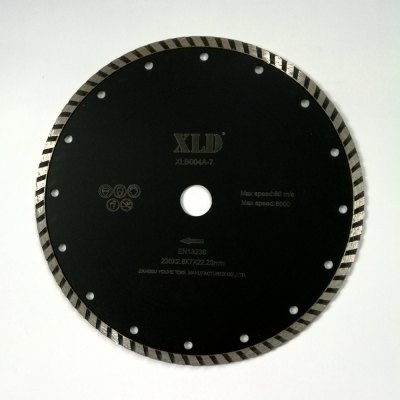 Xld Cold-Pressed Turbo Diamond Saw Blade Grade A for Building Materials 230 x 2.6 x 7 x 22.23