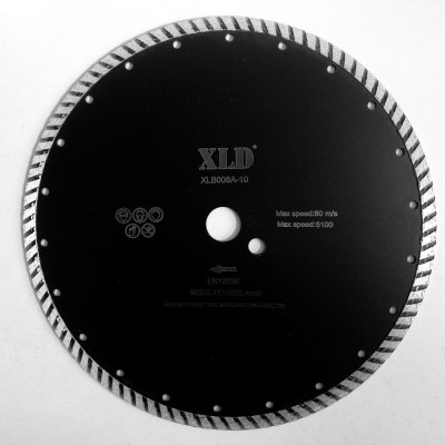 Xld Cold-Pressed Turbo Diamond Saw Blade Grade A for Building Materials