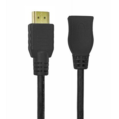 Mini Hdmi Male To Hdmi Female Adapter Converter 20CM - Black
