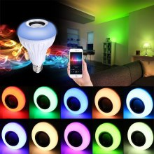 Supli Led 10W Rgb Smart Light Bulb Speaker Generation Ii with Updated Remote Control - New products gadgets Function of Light Flashing As Music Goes