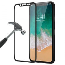 [3d Full Coverage] [9h Hardness] [Ultra Thin][Hd Clear] Tempered Glass Screen Protector Bubble-Free Anti-Scratch Protective Film for Apple Iphone x - Black