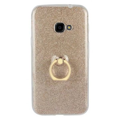 Wkae Soft Flexible TPU Back Cover Case Shockproof Protective Shell with Bling Glitter Sparkles and Kickstand for Samsun