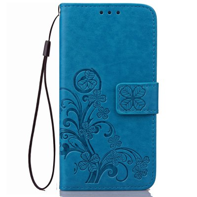 Yc Lucky Clover Holster Leaf Card Lanyard Pu Leather Case for Samsung Note 5