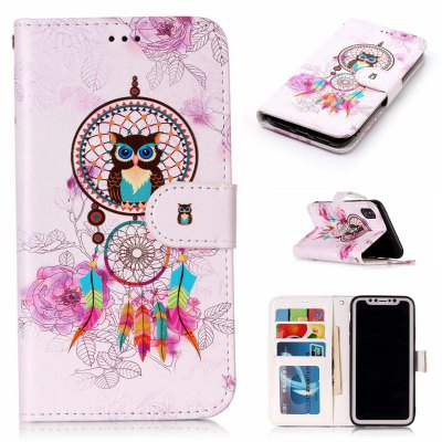 Wind Chimes Owl Varnish Relief Pu Phone Case for Iphone x
