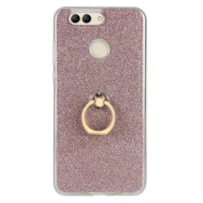 Wkae Soft Flexible TPU Back Cover Case Shockproof Protective Shell with Bling Glitter Sparkles and Kickstand for Huawei