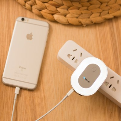 Brelong Creative Light Switch Led Night Light with Dual Usb (5v) Wall Board Charger Mobile Phone Night Light 110-240V