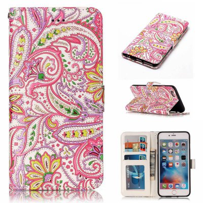 Pepper Flowers Varnish Relief Pu Phone Case for Iphone 6S Plus / 6 Plus