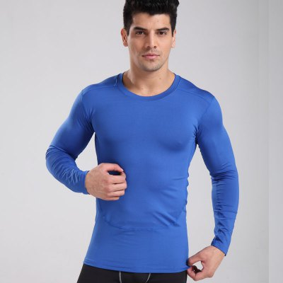 Men'S Sports Tights PRO Short-Sleeved Breathable Quick-Drying Fitness Exercise Soccer Basketball Training Suit Sports T-Shirt