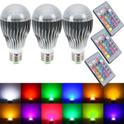 SUPli LED Light Bulb 10W RGB Color Changing Dimmable LED Light Bulbs with Remote Control