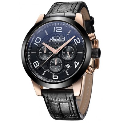 JEDIR 2025 5291 Calendar Display Male Waterproof Watch