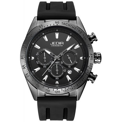 JEDIR 2044 5312 Sports Silicone Band Men Quartz Watch