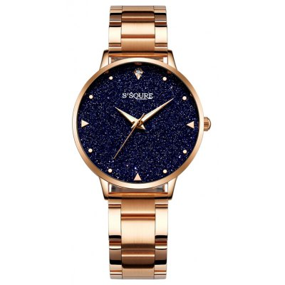 S003 4344 Trendy Fine Steel Band Women Quartz Watch