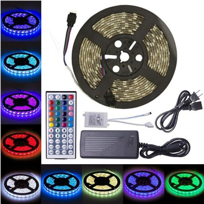 KWB LED Strip Light 5050 300LEDs RGB with 44 Key Controller 6A Power Supply