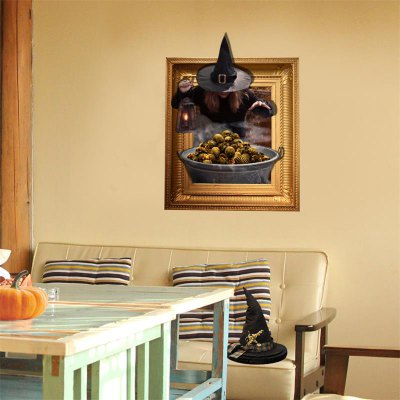 3D Effect Halloween Cartoon Wallpaper Removable Wall Sticker