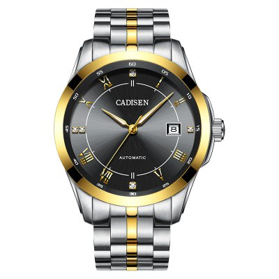 Hot Sale Cadisen Men Watches Top Luxury Sapphire Glass 50M Waterproof Automatic Mechanical Watch Business Role Style Wristwatch