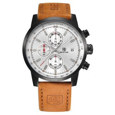BENYAR 5102 4493 Calendar Display Men Quartz Watch