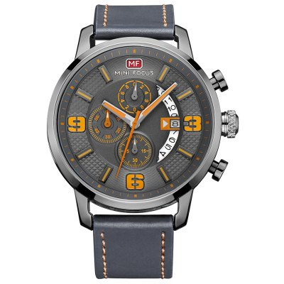 MINI FOCUS 4296 Leisure Calendar Display Men Watch