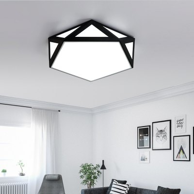JUEJA Nordic Modern Minimalist Geometry Creative Ceiling Light 18W LED Lamp for Living Room / Bedroom / Study Rooms / Restaurants