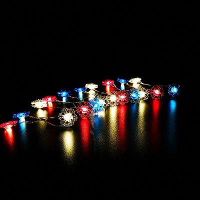 Snowflake Shape String Lights for Patio Micro 2M 20-LED