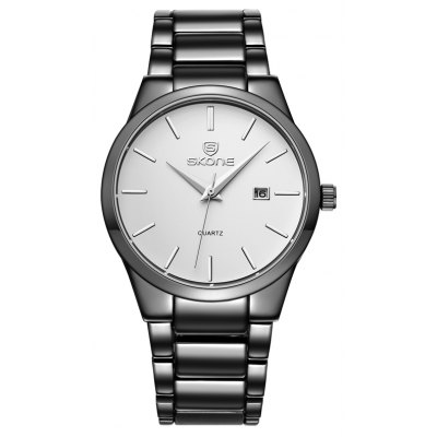 SKONE 7382BG 4219 Fine Steel Band Men Quartz Watch