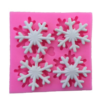 AY - XP137 Christmas Snowflake Silicone Pattern Fondant Mold for Cake Decoration
