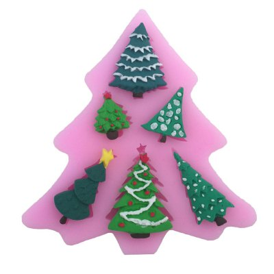 AY - XP13801 Christmas Tree Silicone Pattern Fondant Mold for Cake Decoration