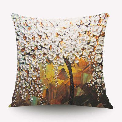 3D Flower Trees Painting Style Series Of Three-dimensional Pattern Painting Style Cloth Plum Pillow Cover