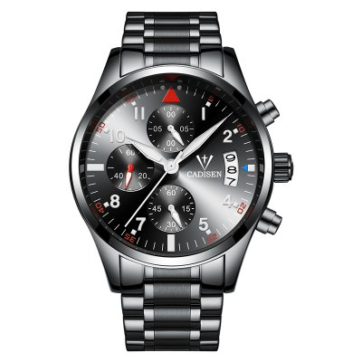 2017 Top Men Watches CADISEN Fashion Business Luxury Brand sport Quartz Watch Stainless Steel