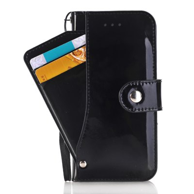 Solid Color Smooth Leather Case with Detached Card Slots and Mirror for iPhone 7 / 8