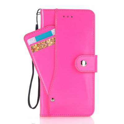 Solid Color Smooth Leather Case with Detached Card Slots and Mirror for iPhone 7 Plus / 8 Plus
