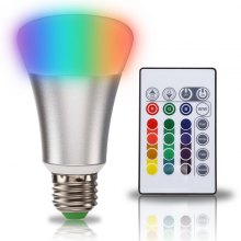 SUPli 10W Timing Remote Controller RGB Color Changing LED Light Bulb with Double Memory and Wall Switch Control