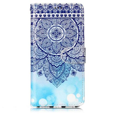 Varnish Embossed Painted PU Phone Case for Huawei P8 Lite 2017