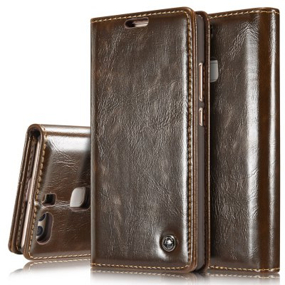CaseMe Premium Quality Magnetic PU Leather Wallet Stand Case for Huawei P9