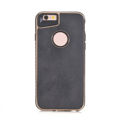 Dual Layer PC +TPU Eletroplating PC Retro Crazy Horse Leather Skin Shell Cover Case for iPhone 6 / 6S