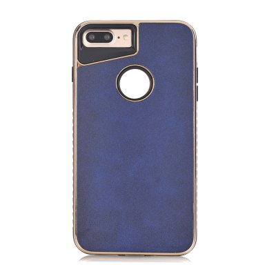 Dual Layer PC +TPU Eletroplating PC Retro Crazy Horse Leather Skin Shell Cover Case for iPhone 8 Plus