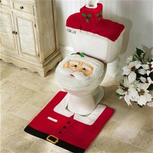 WS0050 Merry Christmas Happy New Year Best Christmas Gift Decorations Bathroom Toilet Seat Carpet