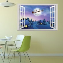 2018 New Christmas Stickers 3D Window Home Decal