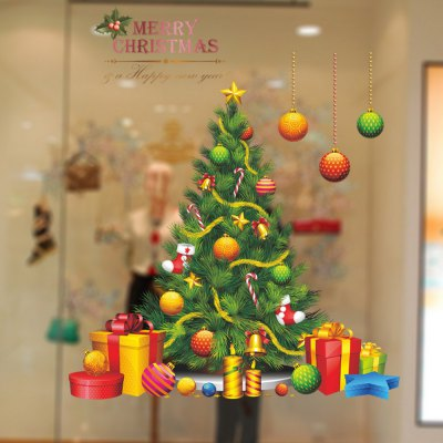 Christmas Tree Vinyl Removable Wall Sticker