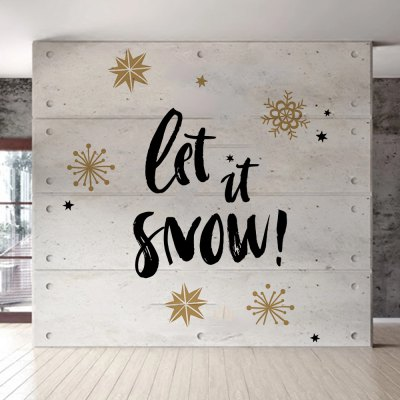 D065 Christmas Wall Stickers Snowflake Dual Color DIY Home Decal