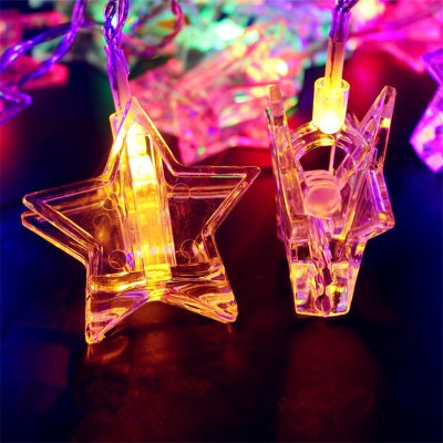 3M 20PCS Stereo Star Photo Clip Lamp String Home Decoration