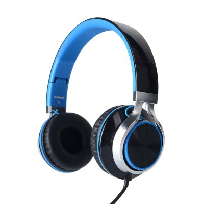 Kanen IP-2050 Leightweight Foldable Wired Headphone Headset with On-line Control