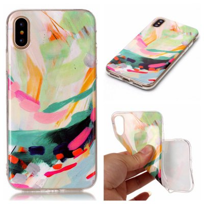 Wkae Soft TPU Color Printing Protective Shell Cover for iPhone X