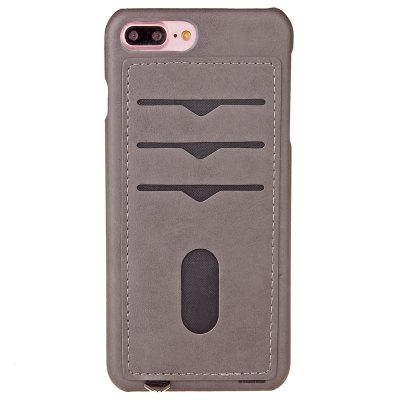 Simple stripes Card Lanyard Pu Leather for iPhone 8 Plus