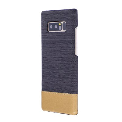 Wkae Jeans Canvas Leather Back Case Cover for Samsung Galaxy Note 8