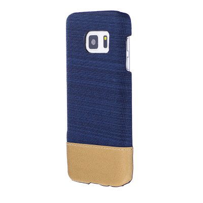 Wkae Jeans Canvas Leather Back Case Cover for Samsung Galaxy S7