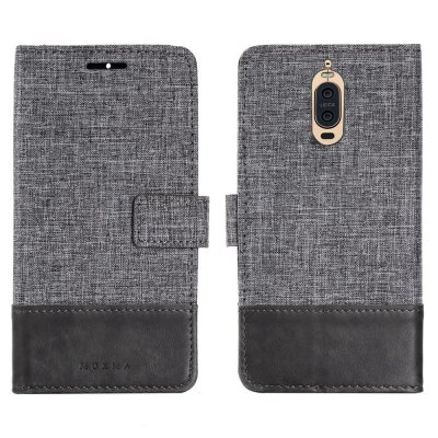 MUXMA Durable Canvas Design Flip PU Leather Wallet Case for Huawei Ascend Mate 9 Pro