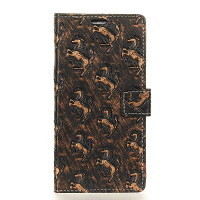 3D Texture Heavy Metal Style Flip PU Leather Wallet Case for Lenovo K8