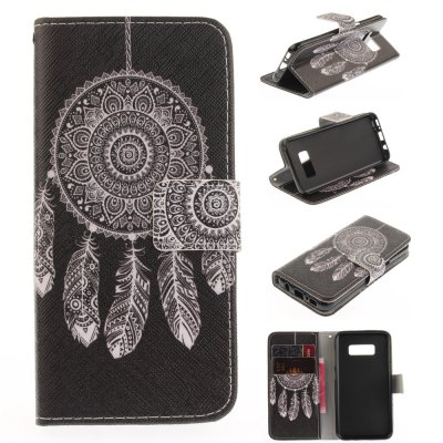 Black Dream PU+TPU Leather Wallet Design with Stand and Card Slots Magnetic Closure Case for Samsung Galaxy S8